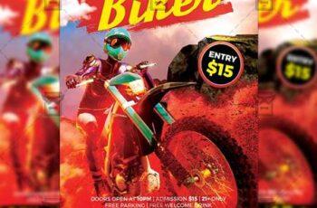 Biker Festival Flyer - Sport A5 Template 20081 7