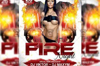 Fire Night Flyer - Club A5 Template 20090 5