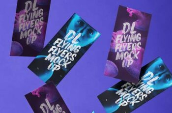 Flying Psd DL Flyer Mockup 1346 9