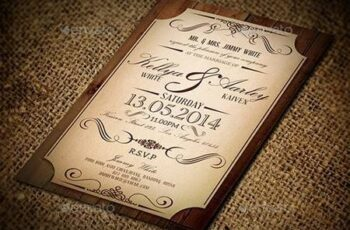 Vintage Wedding Invitation 9615090 4