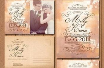 Vintage Wedding Invitation Pack 11239807 3