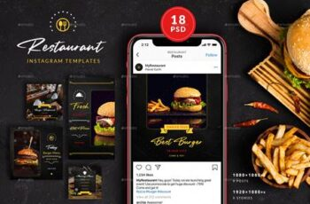 Burger Restaurant Instagram Posts&Stories 26312636 3