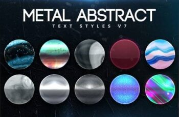 Metal Abstract Text Styles V7 26412923 4