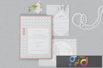 Wedding Invitation Card PSD Mockups 5YBYAQ 2