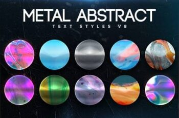 Metal Abstract Text Styles V8 26422140 2
