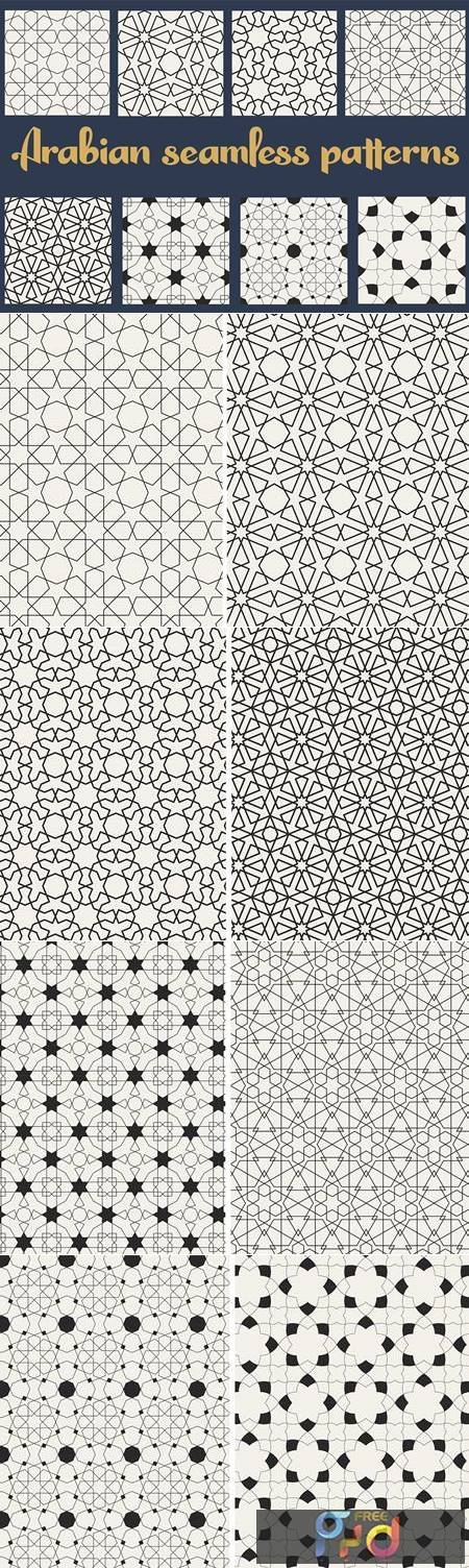 Set of Traditional Arabian Patterns 4440840 1