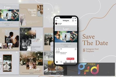Wedding Photography - Instagram Post Template 8S47ZVR 1