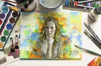 Watercolor Art Photoshop action 27320070 7