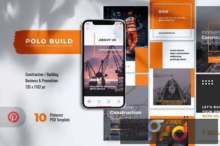 POLO Construction Pinterest Template HGRJD6K 1