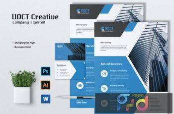 VOCT Creative Agency Flyer & Business Card 9NAHR9V 11