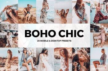 20 Boho Chic Lightroom Presets and LUTs 5184307 3