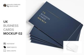 UK Business Cards Mockup 02 5157292 5
