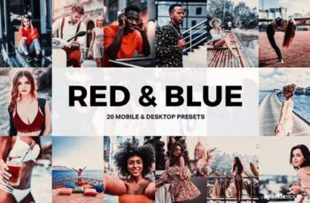 20 Red and Blue Lightroom Presets and LUTs 673160 3