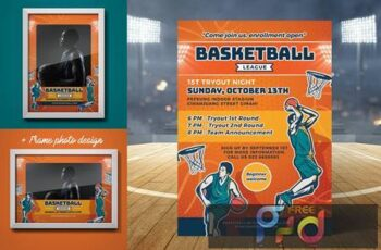 Basketball Tryout Flyer X63CUG9 3