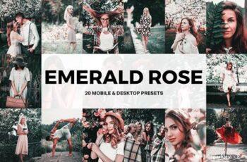 20 Emerald Rose Lightroom Presets and LUTs 5156398 4