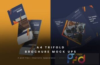 Realistic Trifold Brochure Mock-Ups X8C794M 1