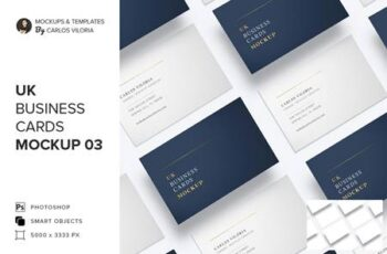 UK Business Cards Mockup 03 5159044 6