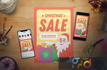Christmas Sale Flyer Set UMGGVUA 5