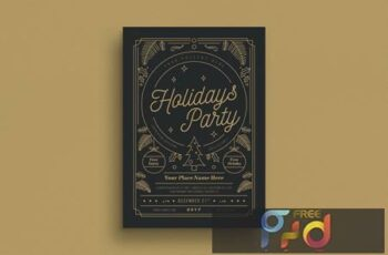 Gold Holiday Party Flyer UJM2PL 7