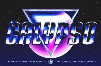 80s Retro Gallery - Text Effects Mockups - Template Package 27199191 4
