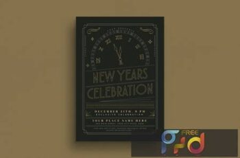 Gold New Year Party Event Flyer VC2KV9 4