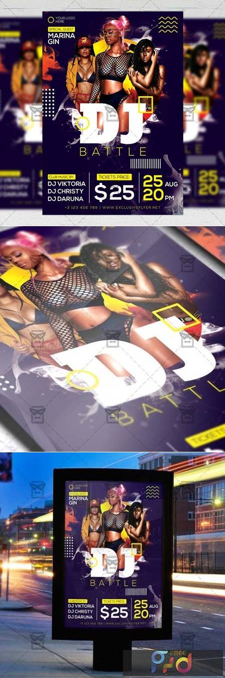 Dj Battle Party Flyer - Club A5 Template 20128 1