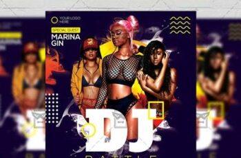 Dj Battle Party Flyer - Club A5 Template 20128 3