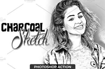 Charcoal Sketch Photoshop Action 4723237 4