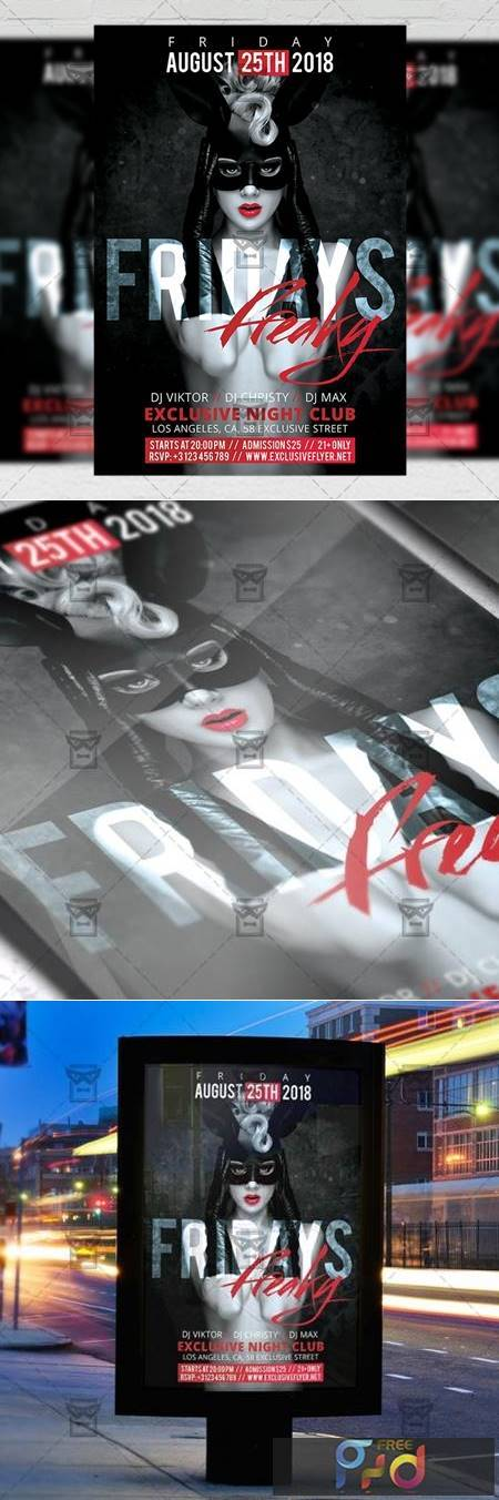 Freaky Fridays Flyer - Club A5 Template 20238 1