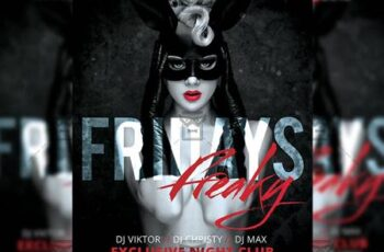 Freaky Fridays Flyer - Club A5 Template 20238 6