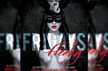 Freaky Fridays Flyer - Club A5 Template 20238 4