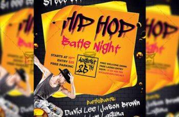 Hip Hop Night - Club A5 Flyer Template 20179 3