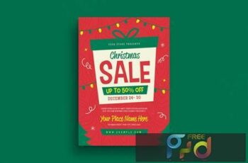 Holiday Christmas Sale Flyer YW8NDM 3