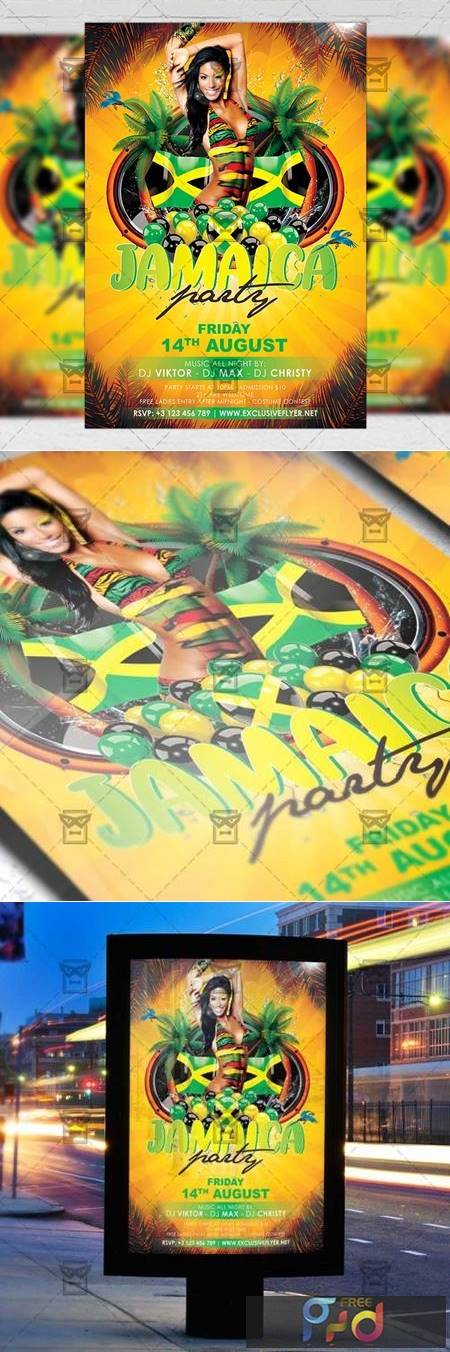 Jamaica Party - Club A5 Flyer Template 20208 1