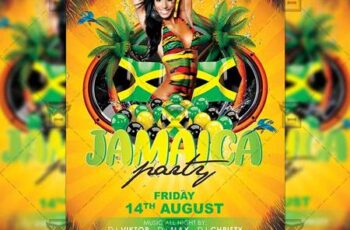Jamaica Party - Club A5 Flyer Template 20208 2