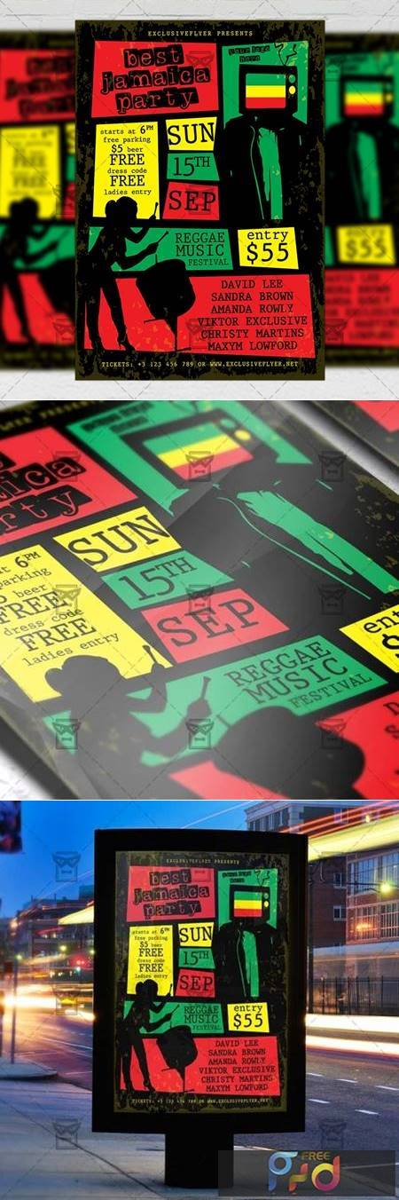 Jamaica Party Flyer - Club A5 Template 20132 1