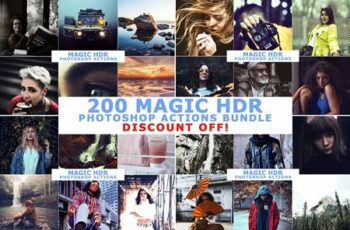 200 Magic HDR Photoshop Actions 4633299 2