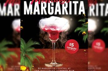 Margarita Mondays Flyer - Club A5 Template 20094 7