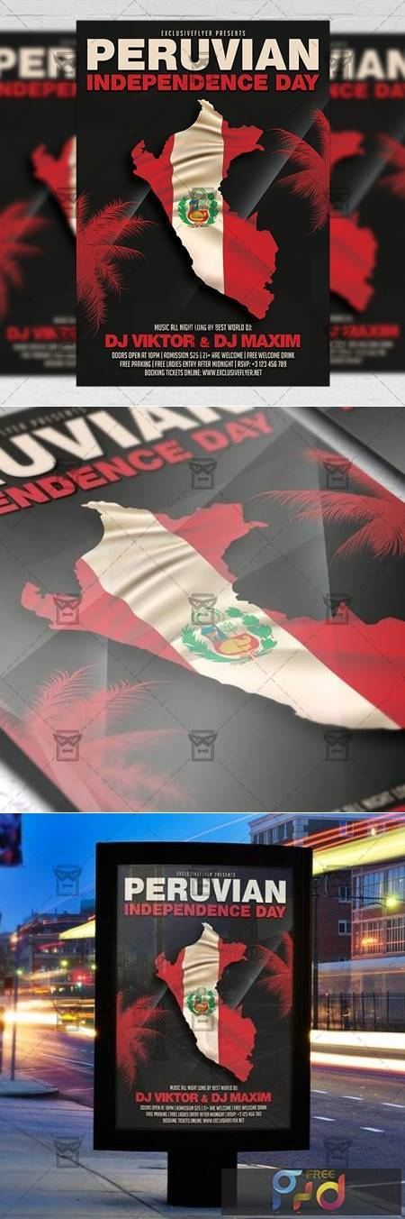 Peruvian Independence Day Flyer – Club A5 Template 20163 1