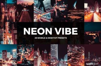 20 Neon Vibe Lightroom Presets and LUTs 5195951 1