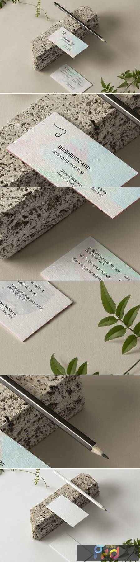 Psd Business Card Branding Mockup 6 1339 1