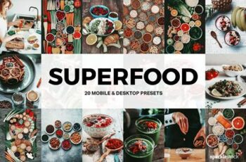 20 Superfood Lightroom Presets and LUTs 5196710 2