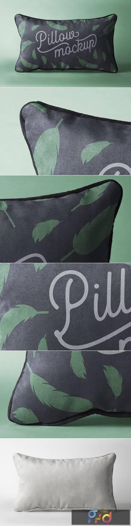 Rectangular Psd Pillow Mockup 1338 1