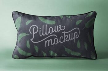 Rectangular Psd Pillow Mockup 1338 2