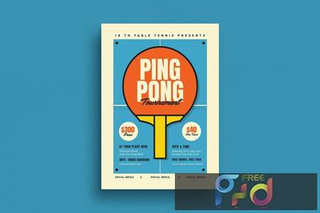Retro Ping Pong Tournament Flyer RNKAMW 1
