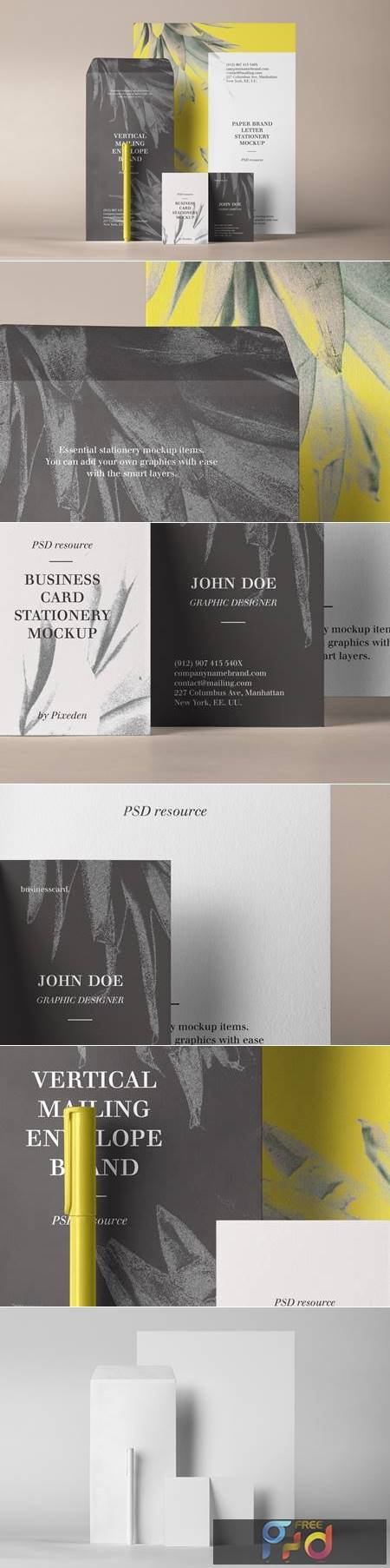 Stationery Branding Mockup Vol 33 1340 1