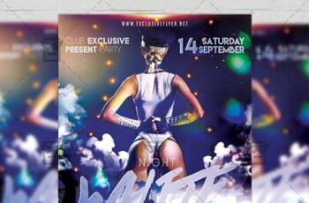 White Night - Club A5 Flyer Template 20220 4