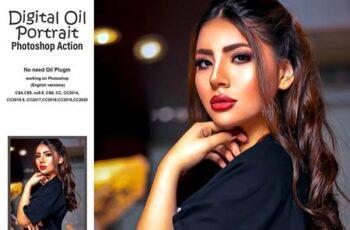 Digital Oil Portrait PS Action 5184649 9