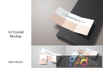 A5 A4 Tri-fold Brochure Mockup GRNGYU8 2