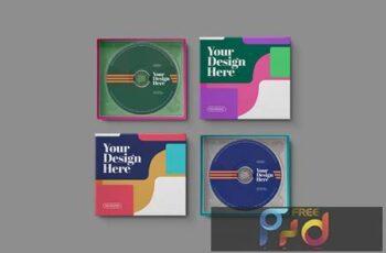 CD Cardboard Jewel Case Paper Box Mockup W65W5RM 6
